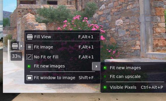 Fragment Image Viewer Ubuntu 画像ビューア ウィンドウフィット