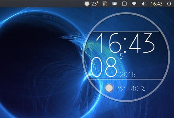 My Weather Indicator 0.7 Ubuntu 16.04 天気アプリ