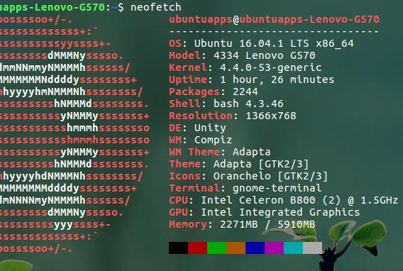 Neofetch Ubuntu システム情報 コマンド 説明