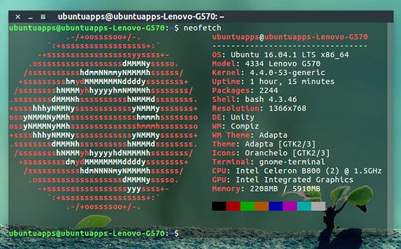 Neofetch Ubuntu システム情報 コマンド