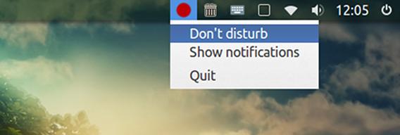 NoNotifications Ubuntu Notify OSD 通知を非表示にするメニュー