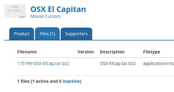 OSX El Capitan Mouse Cursors Ubuntu マウスカーソル ダウンロード