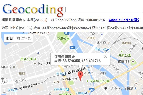 UbuntuIndicatorWeather 天気 Geocoding 緯度経度を調べる