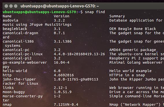 Ubuntu 16.04 Snapパッケージ snapコマンド 検索
