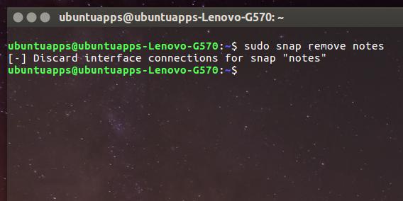Ubuntu 16.04 Snapパッケージ snapコマンド 削除