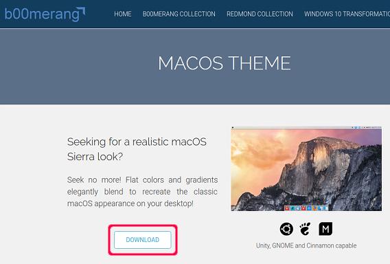 macOS Sierra Ubuntu テーマ ダウンロード