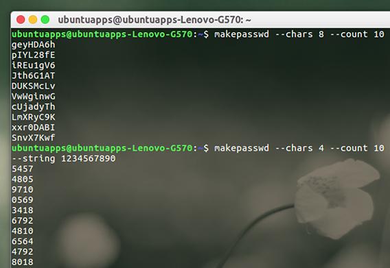 makepasswd Ubuntu ランダムパスワードの生成