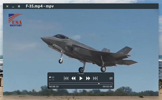 mpv Media Player Ubuntu 動画プレイヤー 軽量 OSC