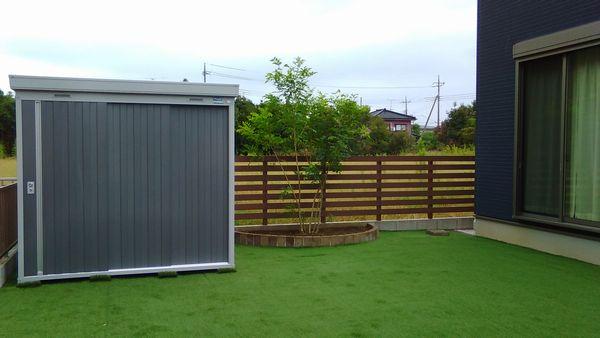 木樹脂フェンス完成