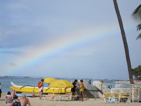 虹が出た!