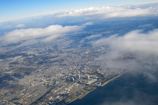 飛行機からの風景