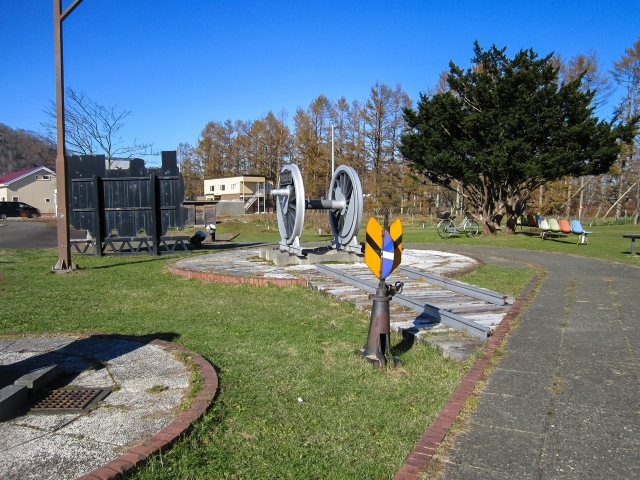 旧広尾駅となりの鉄道記念公園