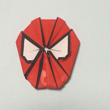 スパイダーマン折図5