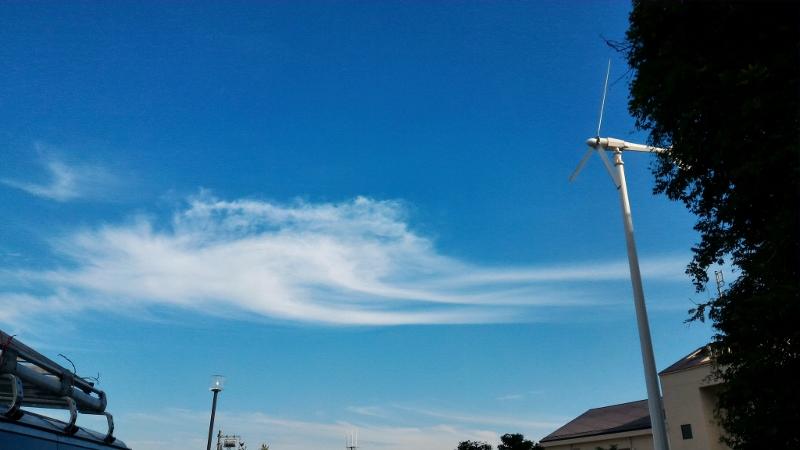板橋リサイクルセンターからの雲