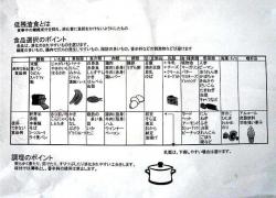 低残渣食表