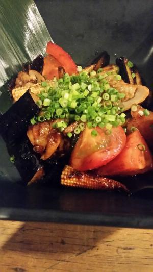 ホルモン夏野菜