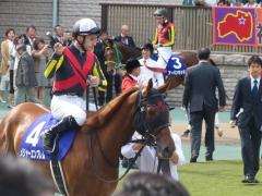 160508_パドック:メジャーエンブレムとルメール騎手