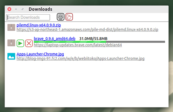 Download Manager Button Chrome拡張 ダウンロードマネージャ ポップアップウィンドウ