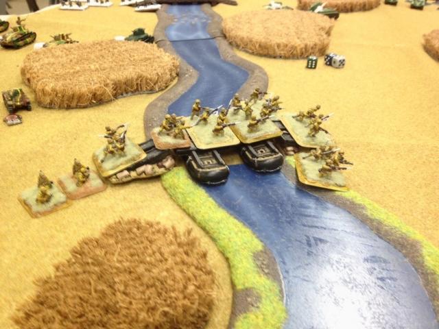 歩兵部隊、渡河!