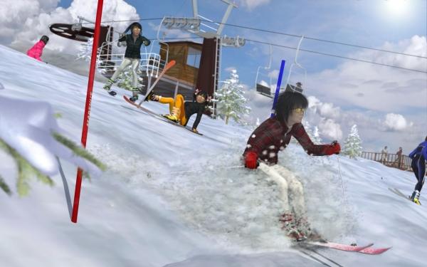 092-雪を蹴って!