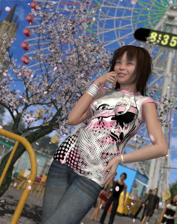 099-遊園地の桜