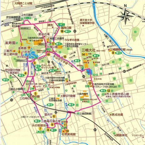 三島市街図