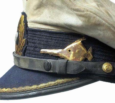 Schirmmütze für KM Offiziere, Weisser Deckel_9.Unterseebootflottille