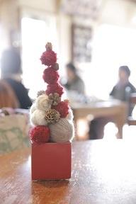 毛糸玉のクリスマスツリー