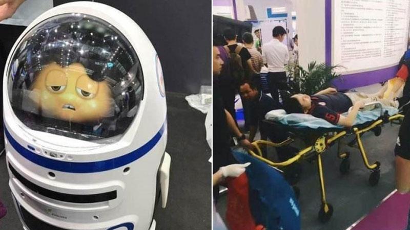 中国 ロボットが暴走