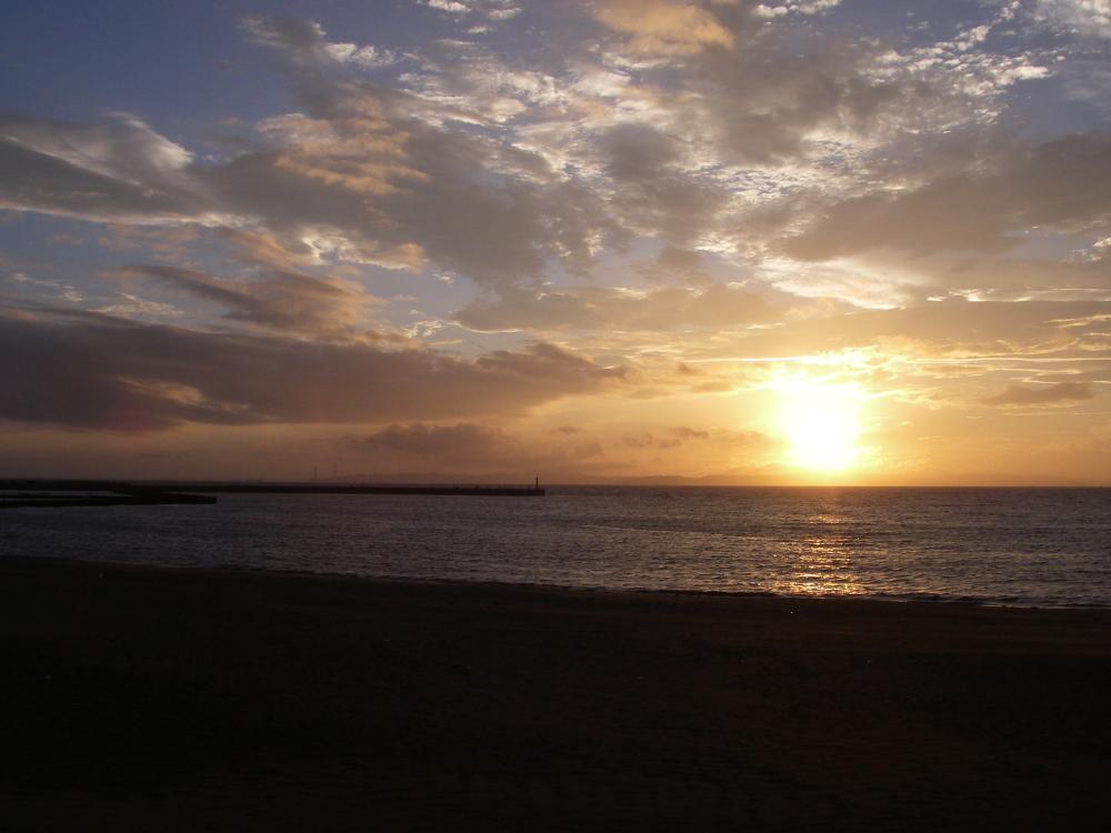 大貫海岸夕暮れ02