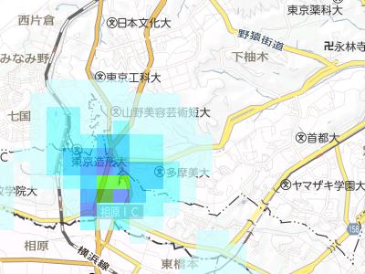 20160910 雨雲レーダー