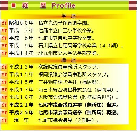 経歴 - Profile -