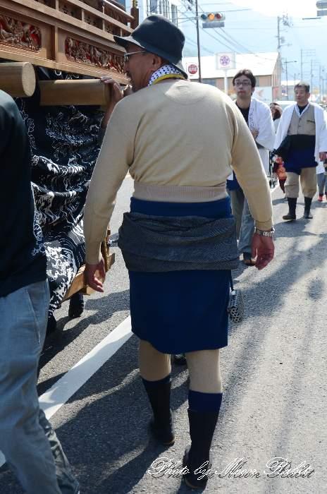 北之町上組だんじり(屋台) ラクダの衣装 総絞りの兵児帯 西条祭り