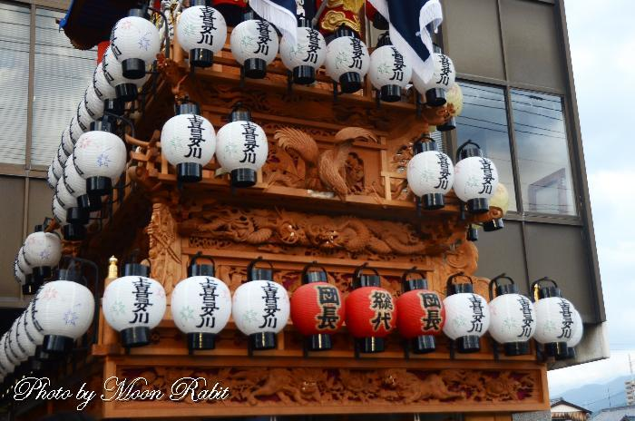 上喜多川屋台(だんじり) 祭り提灯