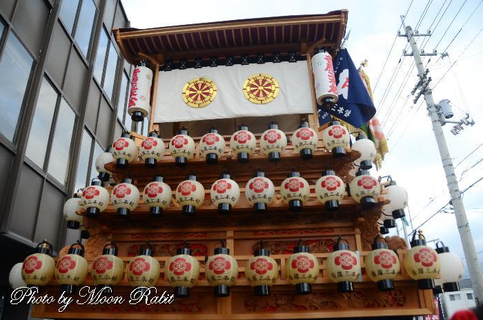 祭り提灯 吉原三本松屋台(だんじり) 西条祭り