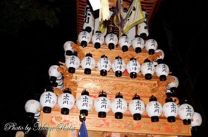 上小川屋台(だんじり) 祭り提灯