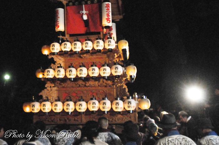 西町屋台(だんじり) 祭り提灯 西条祭り
