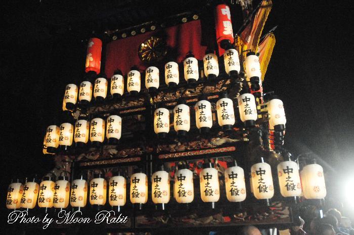 棗提灯 中の段屋台(だんじり) 祭り提灯