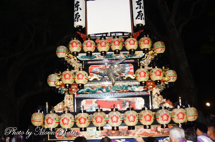 東原屋台(だんじり) 祭り提灯