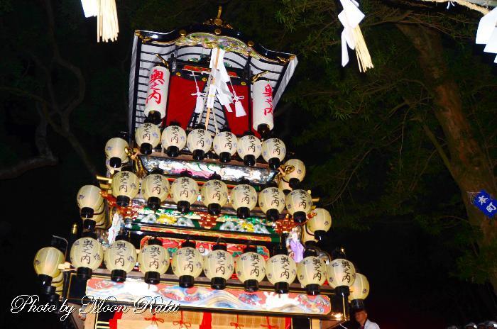 奥の内だんじり(屋台) 祭り提灯