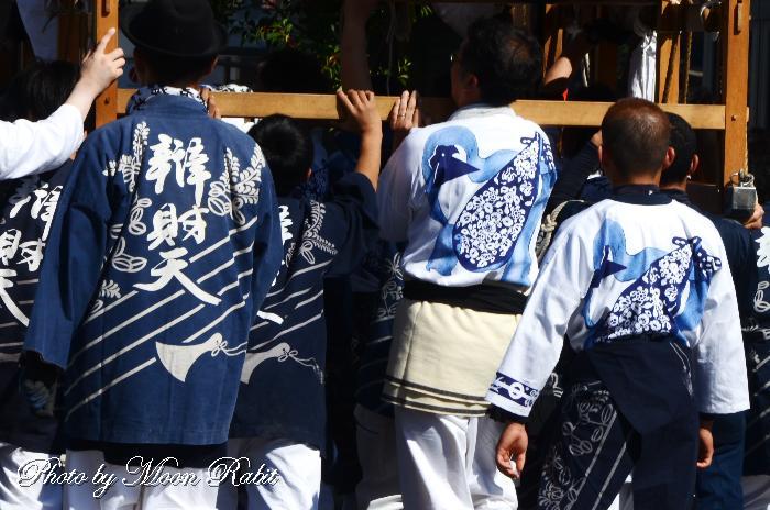 辯財天だんじり(屋台) 祭り装束