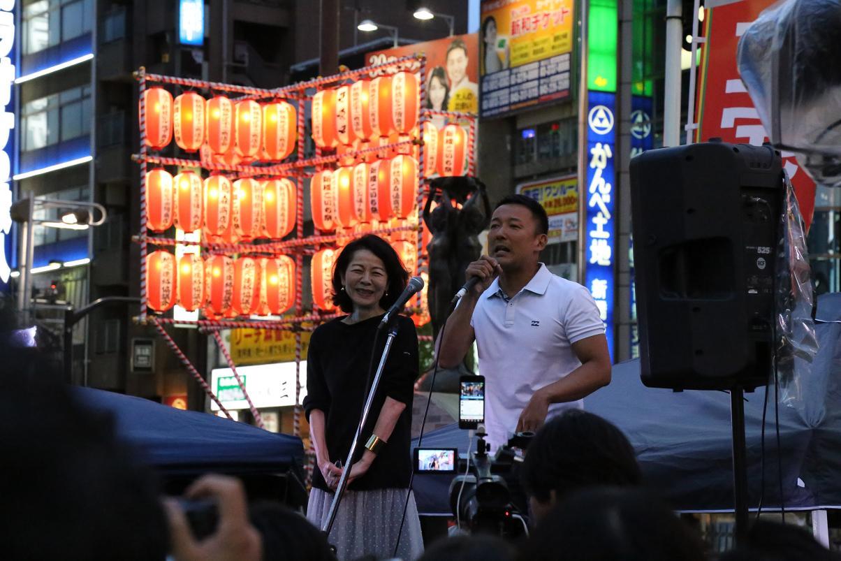選挙フェス 新橋SL 木内・太郎
