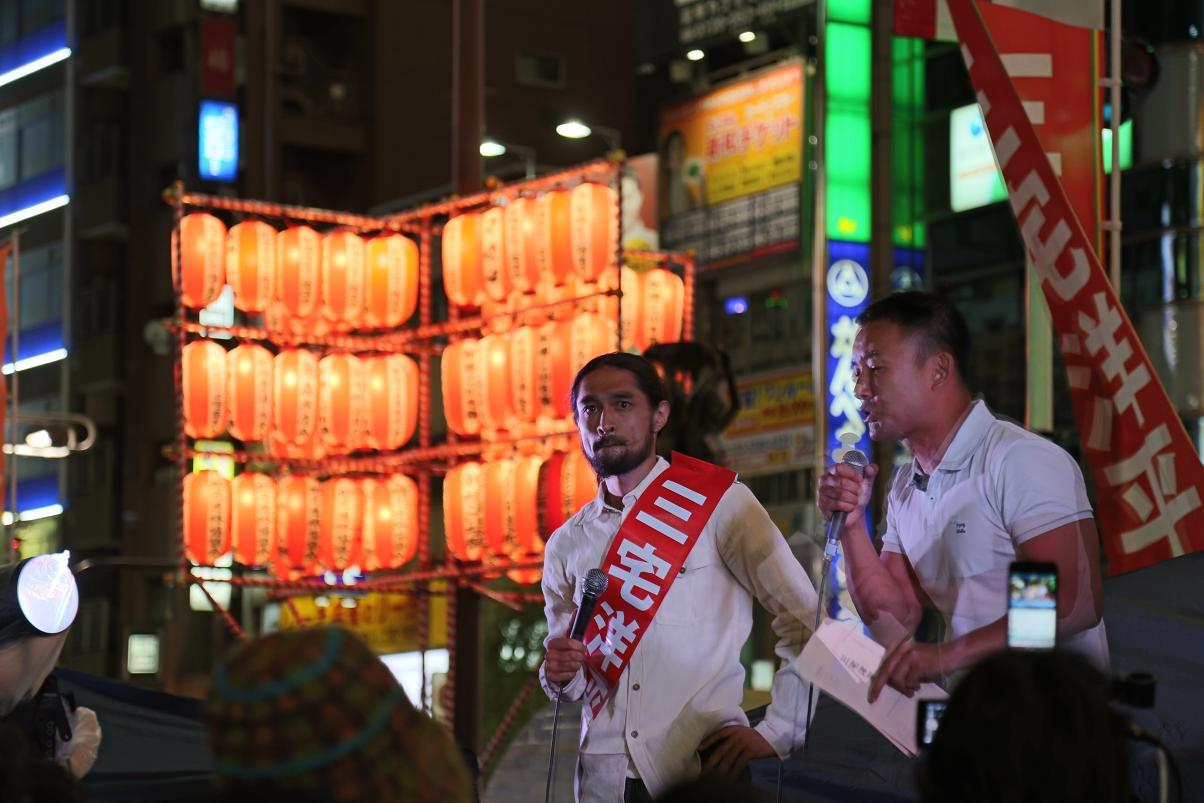 選挙フェス 新橋SL 太郎・洋平