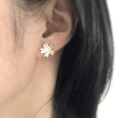 sakura stud earrings