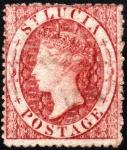 セントルシア最初の切手(1ペニー)