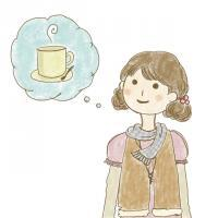 カフェに行こうかなイラスト