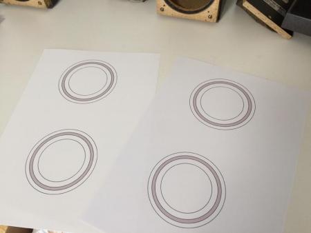 2枚の型紙