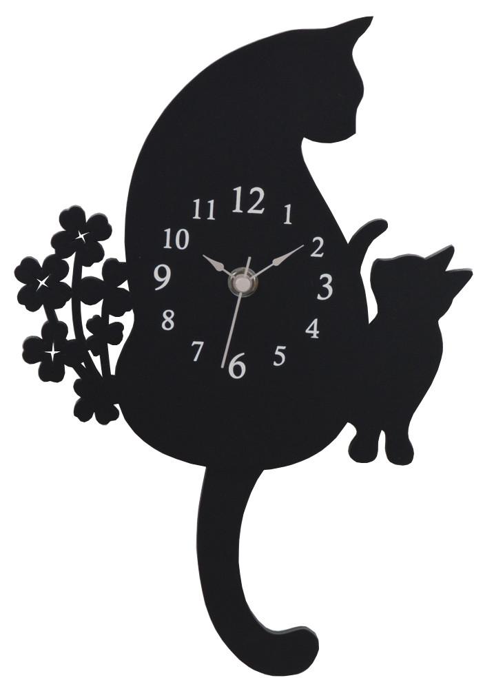 クロネコ振り子時計