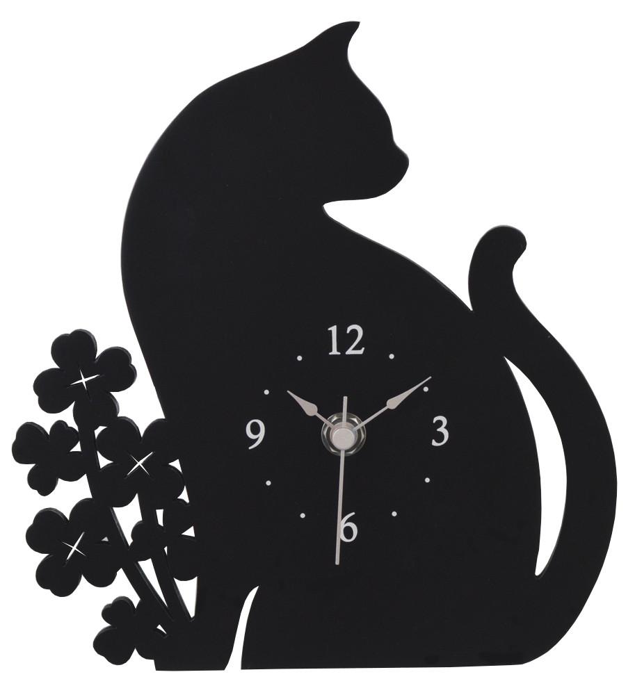 クロネコ置き時計