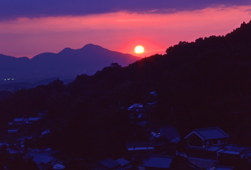棚田夕景(明日香)02